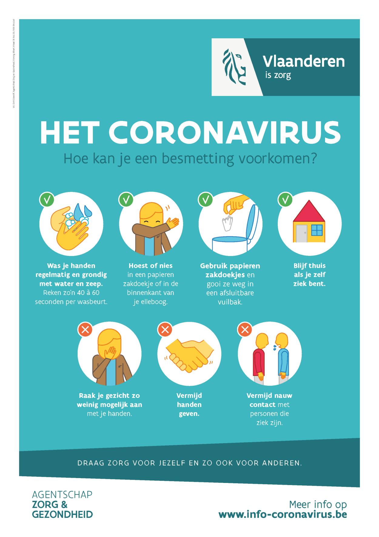 Maatregelen coronavirus | Menen, waar je thuiskomt